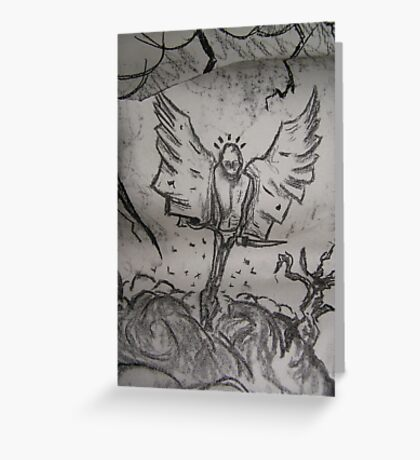 Mr Tooth Faery Goes Gothic Greeting Card