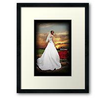 Sunset Bride Framed Print