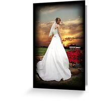Sunset Bride Greeting Card