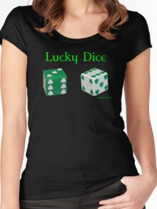 Lucky Dice Women's Fitted Scoop T-Shirt