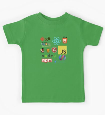 Javascript Stickers, Mugs, T-shirts and Phone cases Kids Tee