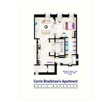 Carrie Bradshaw apt. (Sex and the City movies) Art Print