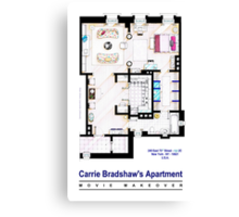 Carrie Bradshaw apt. (Sex and the City movies) Canvas Print