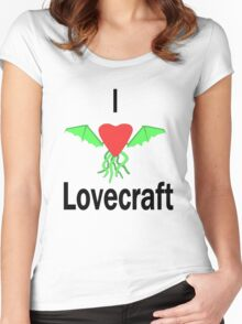 I Love Lovecraft Women's Fitted Scoop T-Shirt