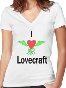 I Love Lovecraft Women's Fitted V-Neck T-Shirt
