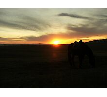 Steppe sunset Photographic Print
