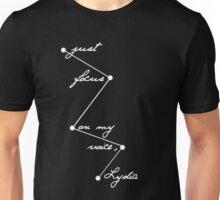 Stydia - Focus on my voice. (WHITE) Unisex T-Shirt