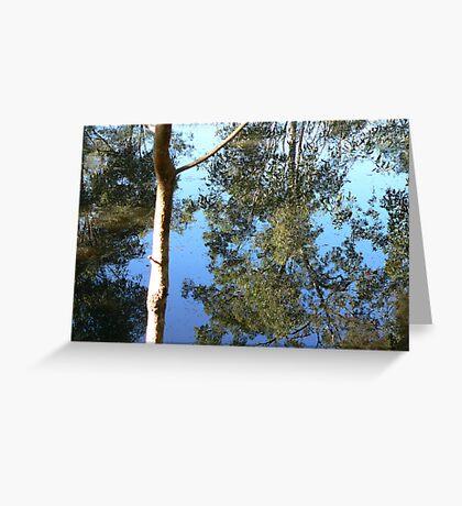 Saturday Garden Pond Greeting Card