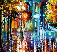 Old Streets — Buy Now Link - www.etsy.com/listing/221899896 by Leonid  Afremov