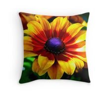 A Flower In Fall Coloring... Throw Pillow