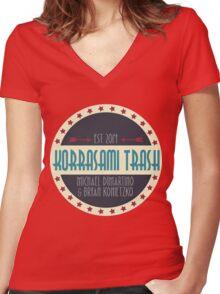 Korrasami Trash Women's Fitted V-Neck T-Shirt