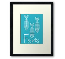 The F Bomb Framed Print