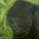 """""""If you could read my mind"""" - Gorilla Oil painting by Avril Brand"""