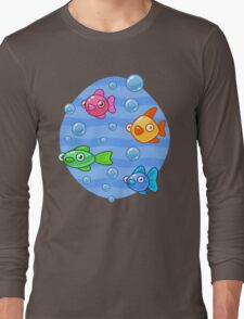 Fish and Bubbles Long Sleeve T-Shirt