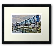 Living by the canal by Tim Constable Framed Print