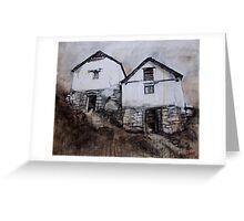Bavona Houses, Switzerland Greeting Card