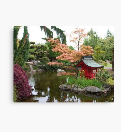 Asian Water Garden Canvas Print