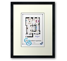 Carrie Bradshaws apartment as a Poster (Movie version) Framed Print
