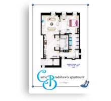 Carrie Bradshaws apartment as a Poster (Movie version) Canvas Print