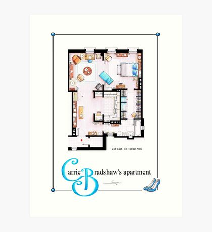 Carrie Bradshaws apartment as a Poster (TV version) Art Print