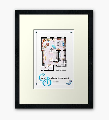 Carrie Bradshaws apartment as a Poster (TV version) Framed Print
