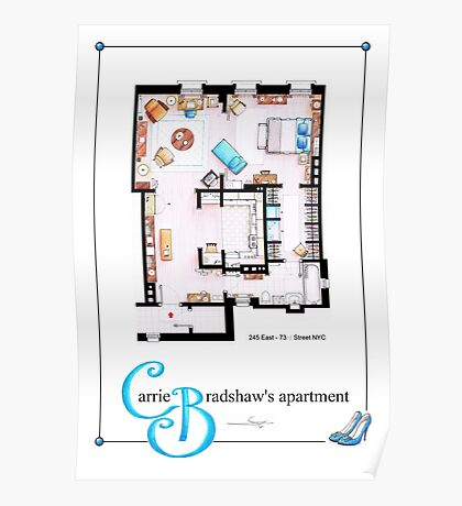 Carrie Bradshaws apartment as a Poster (TV version) Poster