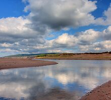 Reflections on Inverness Beach Nova Scotia by EvaMcDermott