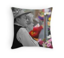Resting in Rundle Mall, Adelaide, South Australia Throw Pillow