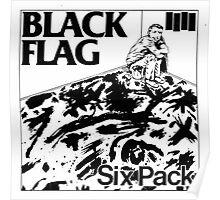Black Flag- Sixpack Poster