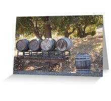 Old Barrels Greeting Card