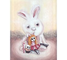 Ester and Bunny Photographic Print