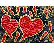 Hearts Aflame Photographic Print