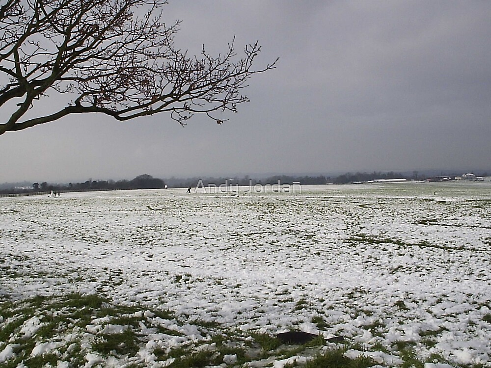 snow on epsom downs by Andy Jordan