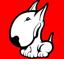 Odie English Bull Terrier by Sookiesooker