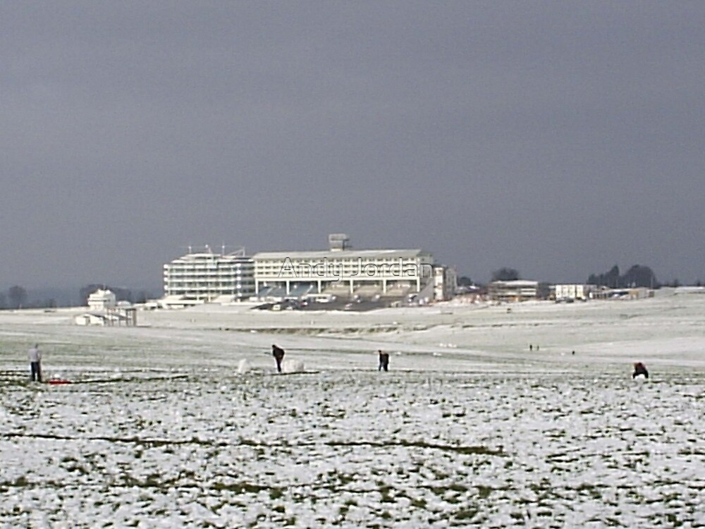 The Grandstand at Epsom Racecourse by Andy Jordan