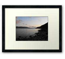 Sunset over Loch Ness Framed Print