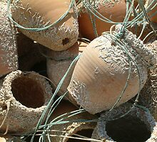 Fishing pots by Fay  Hughes