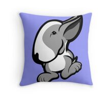 English Bull Terrier Stroll Throw Pillow