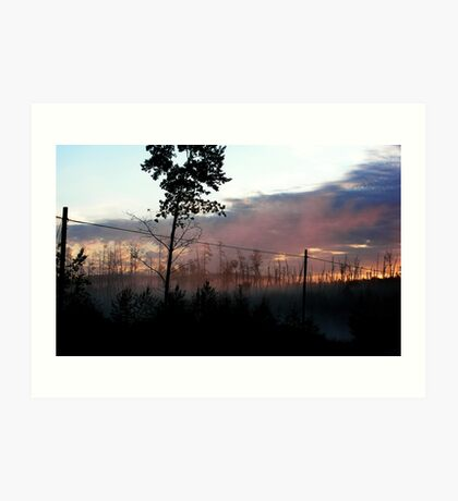 Northern Ontario Misty Sunrise Art Print