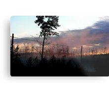 Northern Ontario Misty Sunrise Metal Print