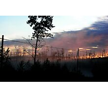 Northern Ontario Misty Sunrise Photographic Print