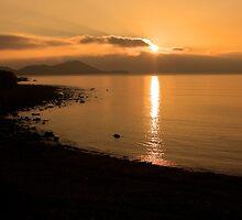 Sunset At Cune Beach by aidan  moran