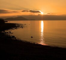 Sunset At Cune Beach by aidan  moran