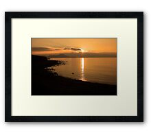 Sunset At Cune Beach Framed Print
