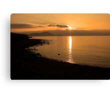 Sunset At Cune Beach Canvas Print