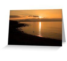 Sunset At Cune Beach Greeting Card