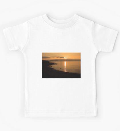 Sunset At Cune Beach Kids Tee