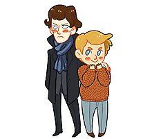 Sherlock and Watson Photographic Print