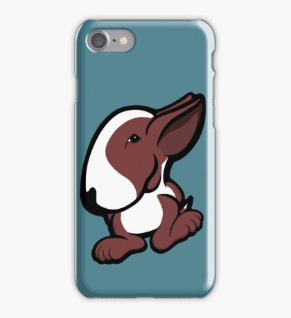 English Bull Terrier Stroll Brown and White iPhone Case/Skin