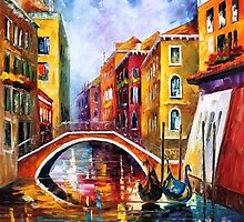 Venice Bridge 2 — Buy Now Link - www.etsy.com/listing/222184617 by Leonid  Afremov